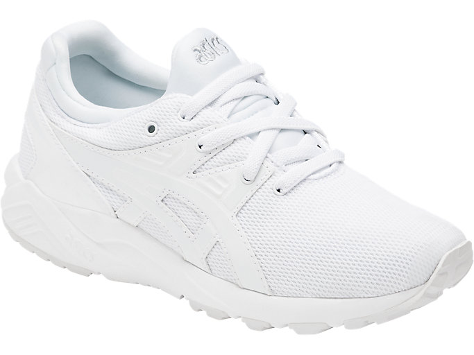 Front Right view of GEL-KAYANO TRAINER EVO PS, WHITE/WHITE