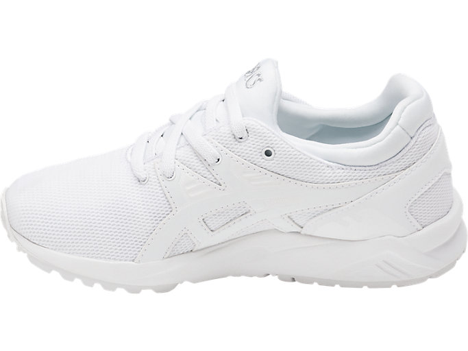 Left side view of GEL-KAYANO TRAINER EVO PS, WHITE/WHITE