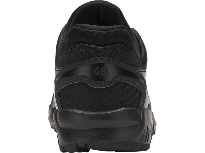 Back view of GEL-KAYANO TRAINER EVO PS, BLACK/BLACK