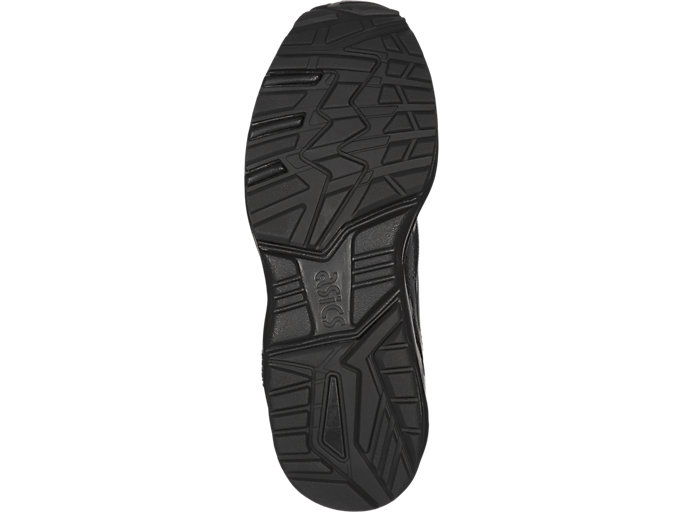 Bottom view of GEL-KAYANO TRAINER EVO PS, BLACK/BLACK