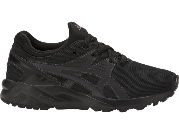 Right side view of GEL-KAYANO TR EVO, BLACK/BLACK