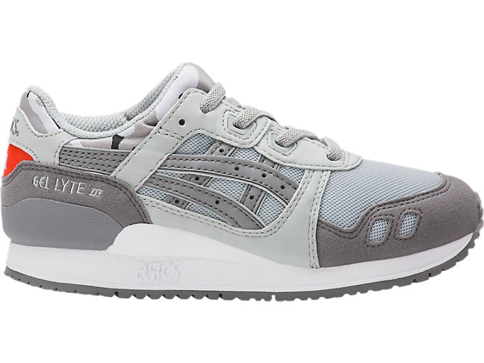 Right side view of GEL-LYTE III PS, MID GREY/ALUMINUM