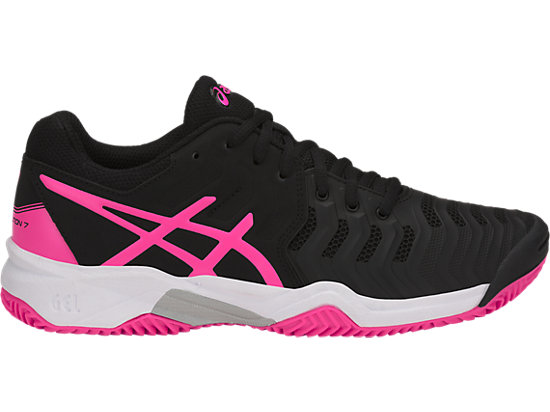 GEL-RESOLUTION 7 GS, BLACK/HOT PINK/SILVER