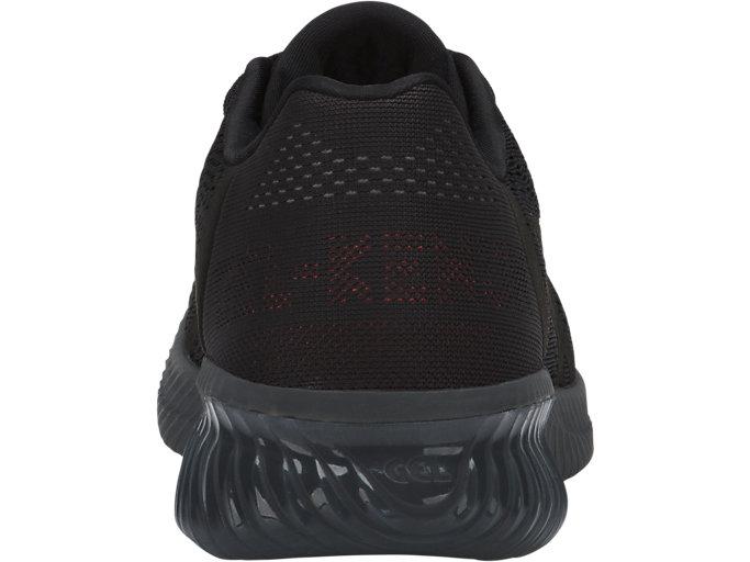 Back view of GEL-KENUN MX GS, Black/Black/Carbon