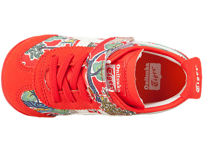 Top view of MEXICO 66 TS, FIERY RED/CREAM