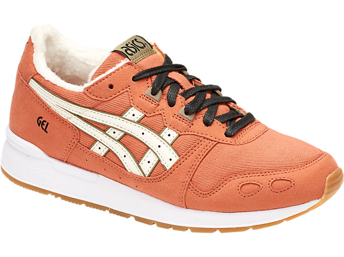Front Right view of DISNEY GEL-LYTE GS, MANGO/CREAM