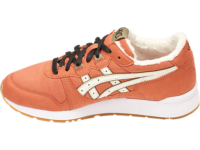 Left side view of DISNEY GEL-LYTE GS, MANGO/CREAM