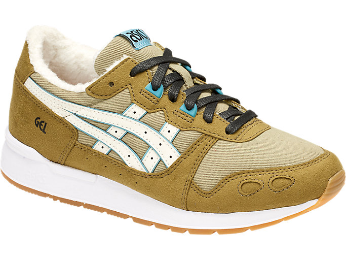 Front Right view of DISNEY GEL-LYTE GS, ALOE/CREAM