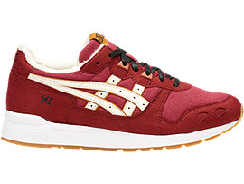 Right side view of DISNEY GEL-LYTE GS, BURGUNDY/CREAM