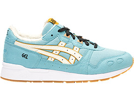 Right side view of DISNEY GEL-LYTE GS, REEF WATERS/CREAM