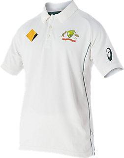 Cricket Australia Replica Test Shirt   Men   Cream / White   ASICS AU