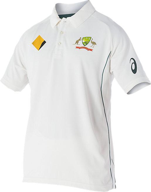Cricket Australia Replica Test Shirt | Men | Cream / White | ASICS AU