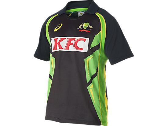 Cricket Australia Replica Twenty20 Shirt Black / Lime Green / Yellow 3