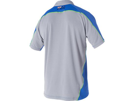 Cricket Australia Replica Training Polo Shirt Olympian Blue / Grey 7