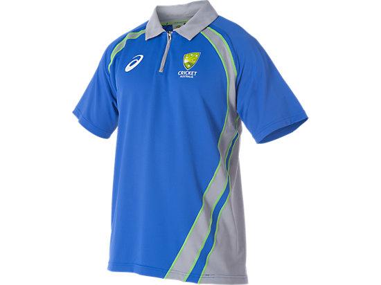 Cricket Australia Replica Training Polo Shirt Olympian Blue / Grey 3
