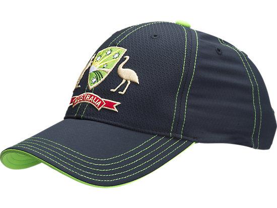 Adjustable Cricket Australia Replica Twenty20 Cap Black / Lime Green / Yellow 3