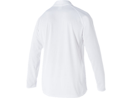 Cricket Playing L/S Polo Top White White / Olympian blue 7