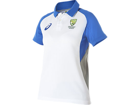 Cricket Australia Replica Travel Polo White / Olympian blue 3