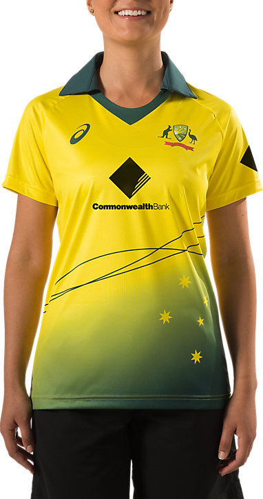 92bf372eb CRICKET AUS REPLICA SOUTHERN STARS ODI HOME SHIRT | Women | Yellow ...