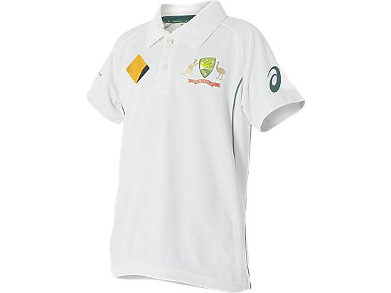 Cricket Australia Replica Test Shirt Youth Cream / White 3