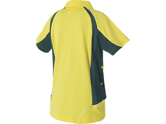 Cricket Australia Replica ODI Shirt Home Youth Yellow / Forest Green 7