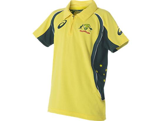 Cricket Australia Replica ODI Shirt Home Youth Yellow / Forest Green 3