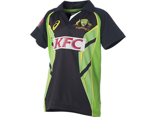 Cricket Australia Replica Twenty20 Shirt Youth Black / Lime Green / Yellow 3