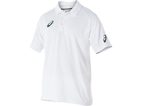 Cricket Playing Polo Top White Youth White / Olympian blue 3