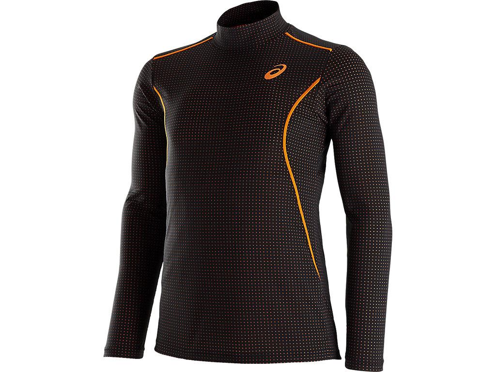ウィンジョブ®ハイネックLSシャツ:ブラック×オレンジ