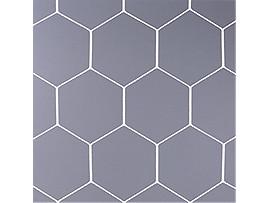 カラー亀甲ハンドボールゴールネット(フットサル兼用)エコタイプ