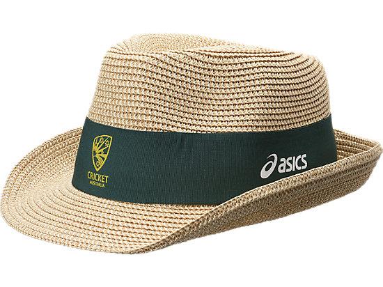 Cricket Australia Supporter Fedora Straw Hat Straw / Forest Green 3