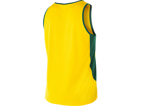 Cricket Australia Supporter Singlet Yellow / Forest Green 7