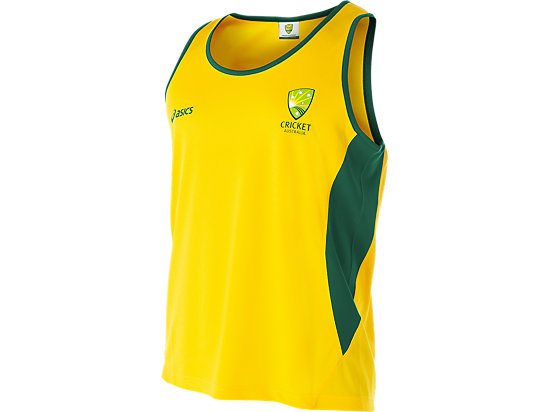 Cricket Australia Supporter Singlet Yellow / Forest Green 3