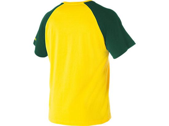 Cricket Australia Supporter Shield Print T-Shirt Yellow / Forest Green 7