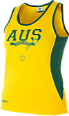 Cricket Australia Supporter AUS Print Singlet Women's