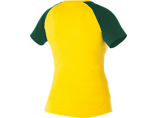 Cricket Australia Supporter AUS Print T-Shirt Women's Yellow / Forest Green 7