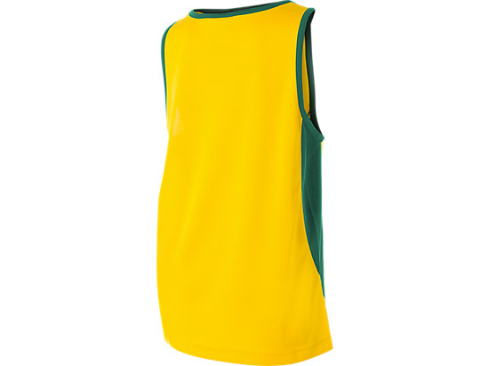 Cricket Australia Supporter Singlet Youth Yellow / Forest Green 7