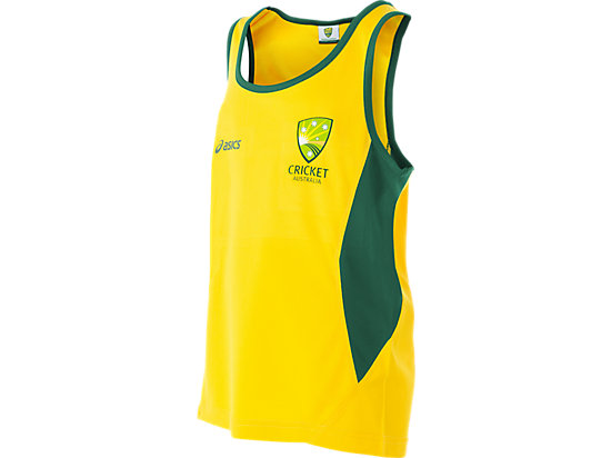 Cricket Australia Supporter Singlet Youth Yellow / Forest Green 3