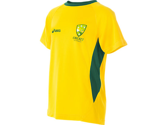 Cricket Australia Supporter T-Shirt Youth Yellow / Forest Green 3