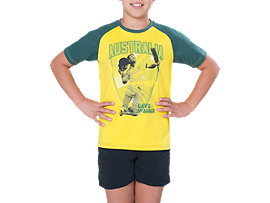 CRICKET AUSTRALIA SUPPORTER WARNER TEE - YOUTH