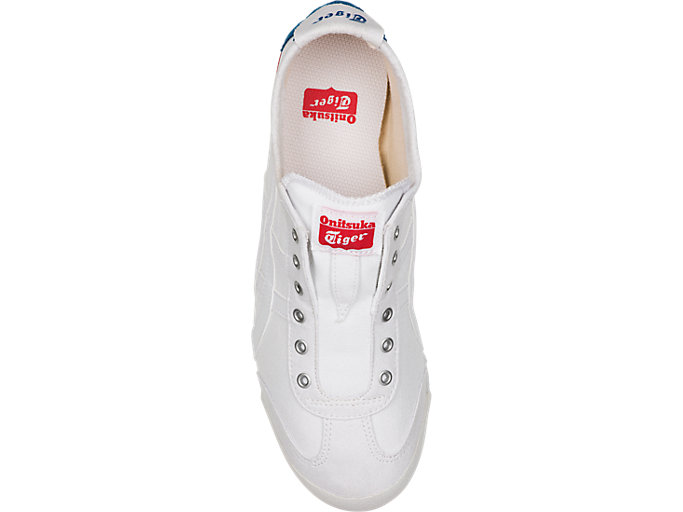 Top view of Mexico 66 Slip-On, WHITE/WHITE