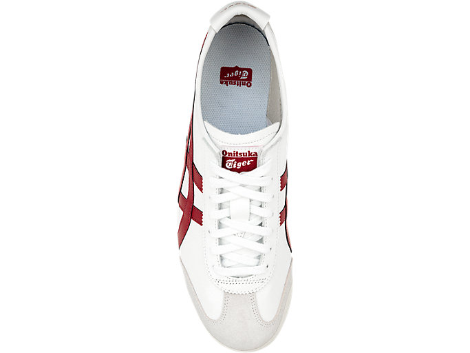 Top view of Mexico 66, WHITE/BURGUNDY