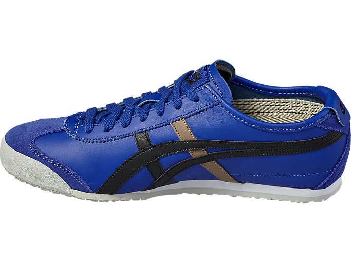 Left side view of Mexico 66, ASICS BLUE/BLACK