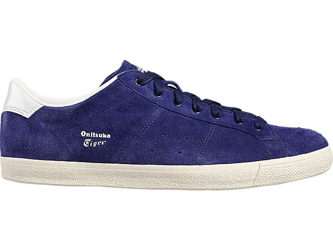 Right side view of LAWNSHIP, Indigo Blue/White