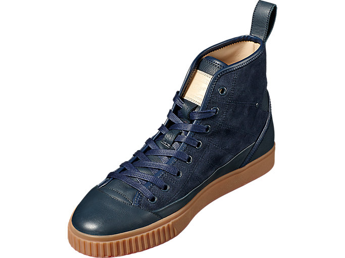 Front Left view of OK Basketball Italy, DARK DENIM/DARK DENIM