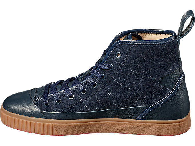 Left side view of OK Basketball Italy, DARK DENIM/DARK DENIM