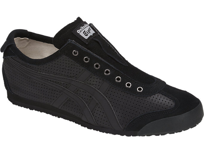Front Right view of MEXICO 66 SLIP-ON, BLACK/BLACK