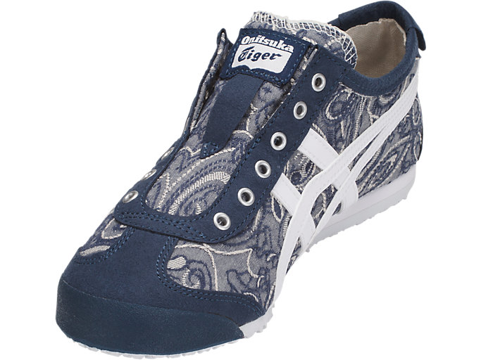 Front Left view of MEXICO 66 SLIP-ON, DARK BLUE/WHITE