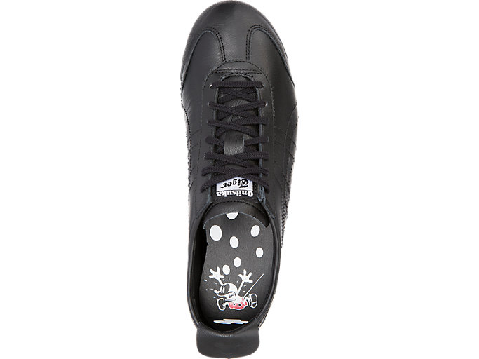 Top view of MEXICO 66, BLACK/BLACK