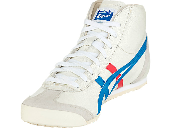 Front Left view of Mexico Mid-Runner, WHITE/BLUE